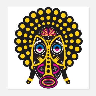Culture afro pop mask - Poster
