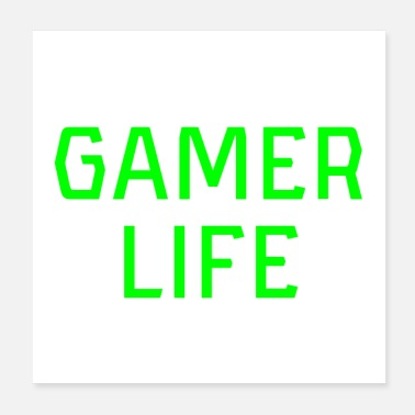 Hardcore Gamer Life Gamerlife Computer Console Video Gaming - Poster