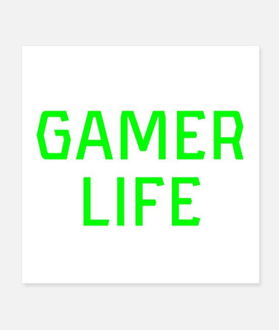 Video Game Posters - Gamer Life Gamerlife Computer Console Video Gaming - Posters white