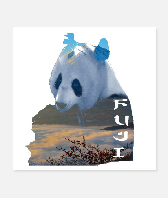 North Pole Posters - panda fuji - Posters white