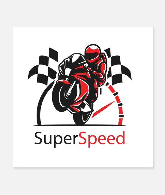 Missile Posters - Super Speed Bike - Posters white