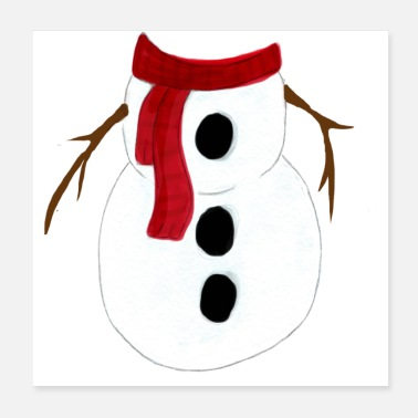 Snowman Snowman without Head - Poster