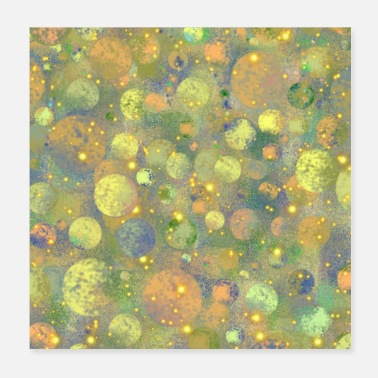 Cosmos Abstract Planets Pattern - Poster