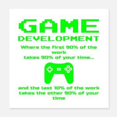 Indie Indie Video Game Developer Development Dev Funny - Poster