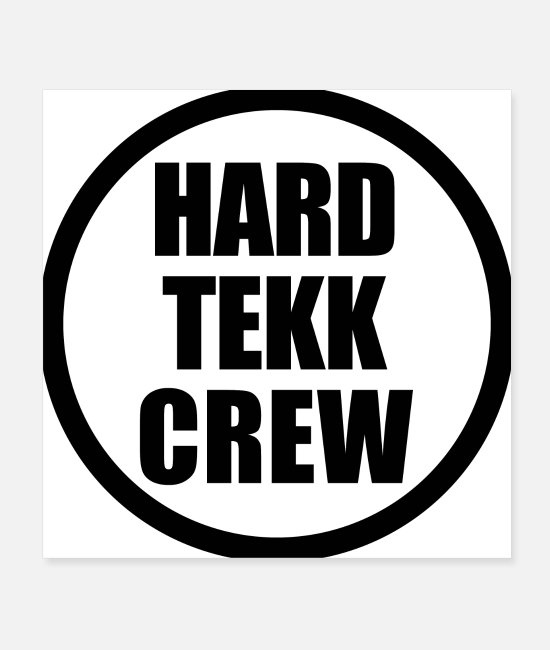 Turn Table Posters - Hardtekk Crew - Posters white