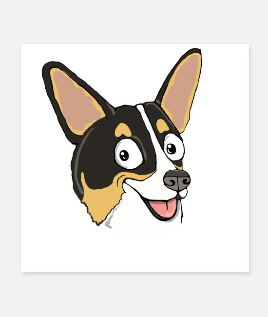 Sweet Dog Posters - Tri-colored Pembroke Corgi - Posters white