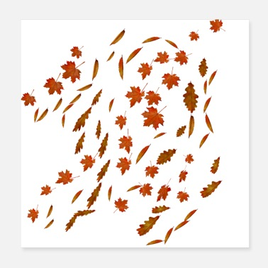 Fall Falling Leaves - Poster