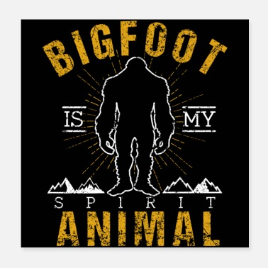Sasquatch Bigfoot Retro Style Sasquatch - Poster