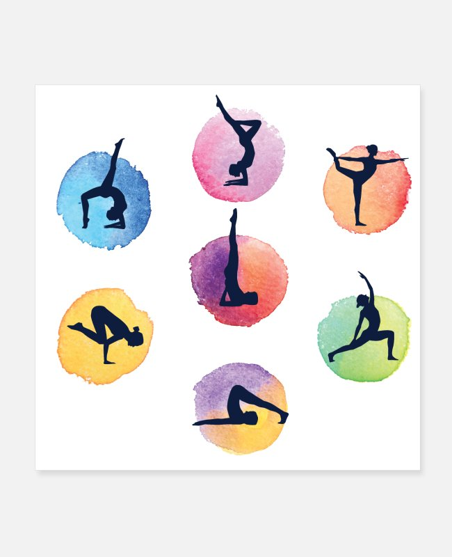 Yogi Posters - yoga positions - The Most Important Yoga Poses - Posters white