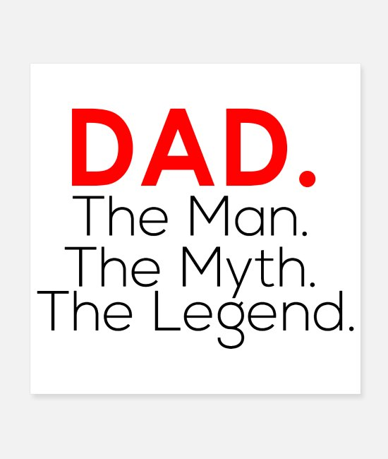 Papaw Posters - Papa The Man The Myth the legend shirt - Posters white