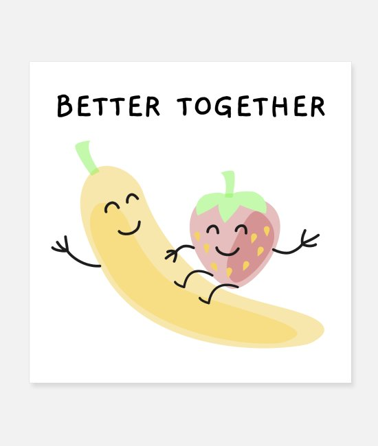 Friendship Posters - Better together - Posters white