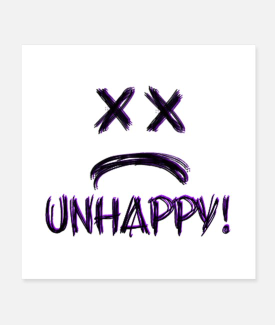 Wedding Day Posters - Unhappy! - Posters white
