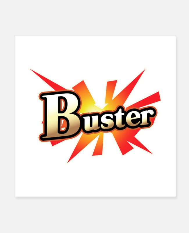 Cardiff Posters - Buster Card - Posters white