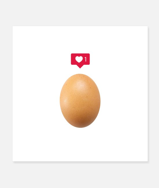 Eggshell Posters - World Record Insta Egg - Posters white
