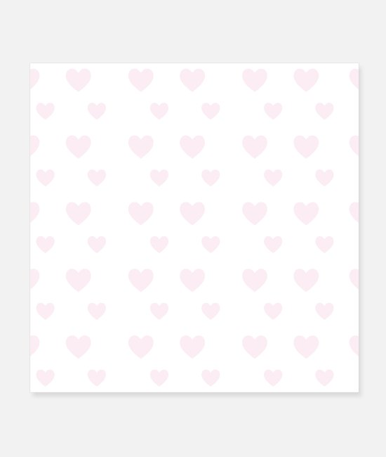 Engagement Posters - Pink heart seamless pattern - Posters white