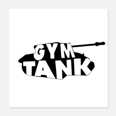 Gym Wear Gym Tank gym exercise - Poster