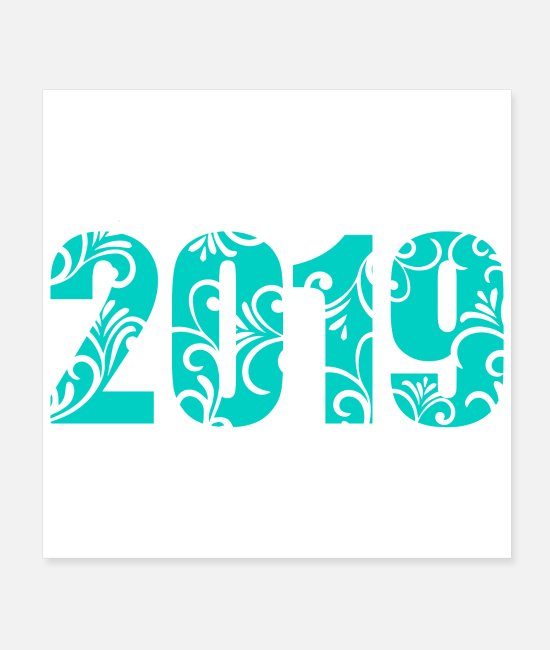 Happy Holidays Posters - New Year 2019 - Gift Idea - Posters white