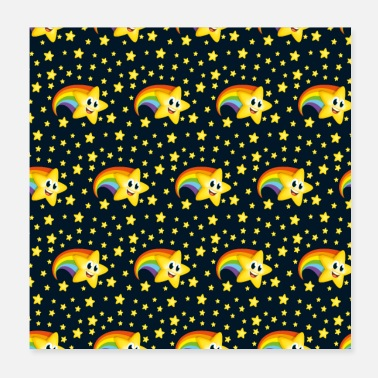 Childhood Cartoon Star seamless pattern - Poster