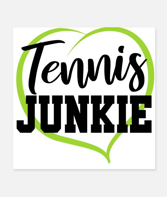 Tennis Is Life Posters - Tennis Love Ball Shirt Gift Tennis Player Coach - Posters white