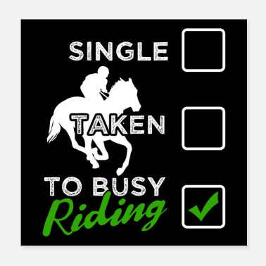 Horseriding Funny Horse Riding Quotes | To Busy - Poster