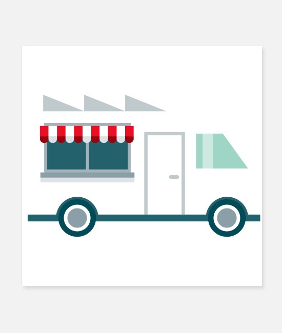 Restaurant Posters - Food Truck - Posters white