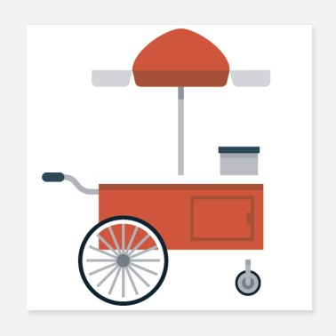 Hot Dog Hot Dog Cart - Poster