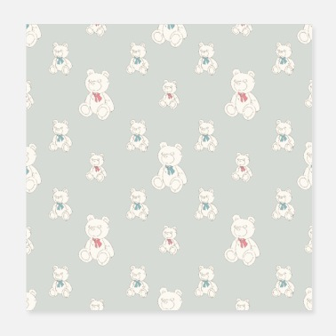 Teddy Bear Teddy Bear Pattern - Poster