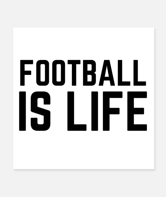 Australian Football Posters - Football is Life - Posters white