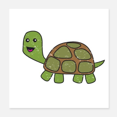 Reptile Turtle Turtles Tortuga Reptile pets for kids - Poster
