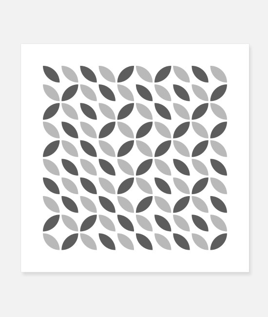 Design Posters - Pointy Leaves - Posters white