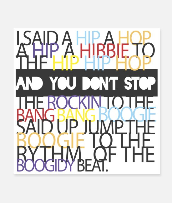 Rap Posters - Rapper s Delight Sugarhill Gang - Posters white