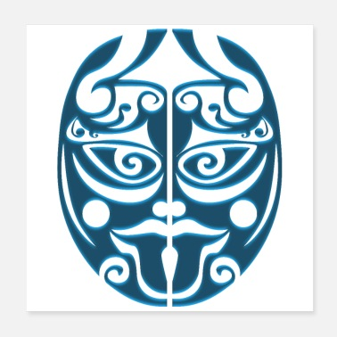 Rugby Maori Warrior Haka Sticking out the Tongue - Poster