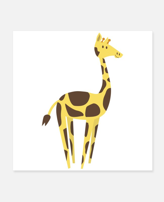 Owl Posters - Giraffe - Cure Animal Design - Perfect Gift Idea - Posters white