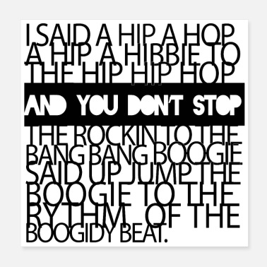 Rapper Rapper s Delight Sugarhill Gang - Poster