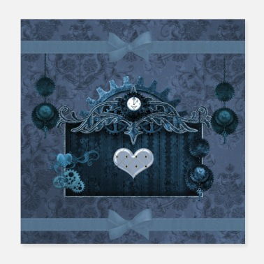 Elegance A touch of steampunk with elegant heart - Poster