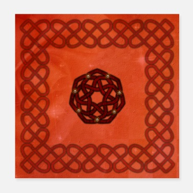 Decoration Wonderful decorative celtic, knot - Poster