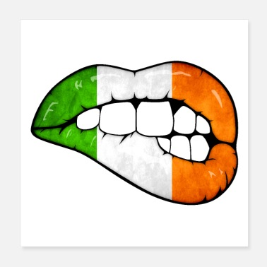 Irish Irish lips - Poster