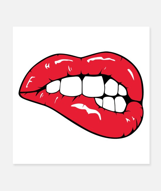 Red Posters - Red lips - Posters white