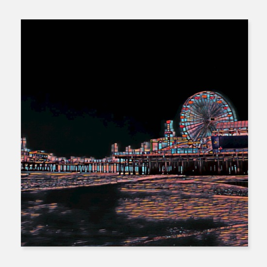 Stained Glass Santa Monica Pier by  stine1