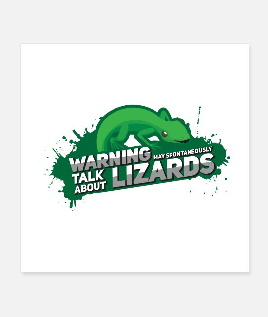 Mummy Posters - May Spontaneously Talk About Lizards I Gift - Posters white