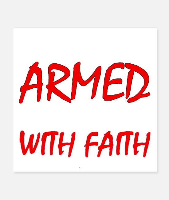 Quote Posters - We Are Twice Armed if We Fight With Faith Quote - Posters white