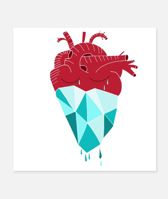 Heart Posters - Heart of Ice I Transformation I Spirituality - Posters white