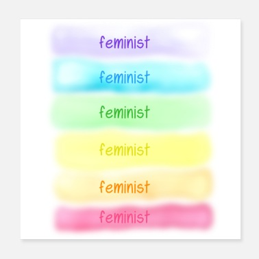 Marriage Equality Feminist (Rainbow) - Poster