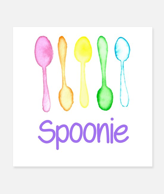 Spoons Posters - Spoonie - Posters white