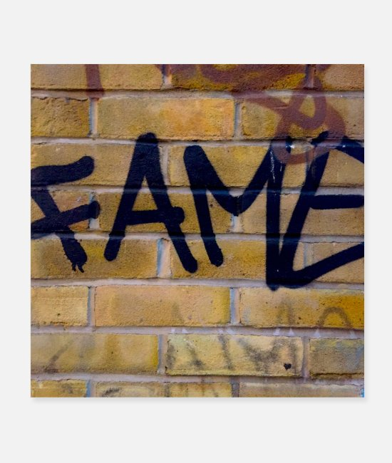 Urban Art Posters - fame london - Posters white