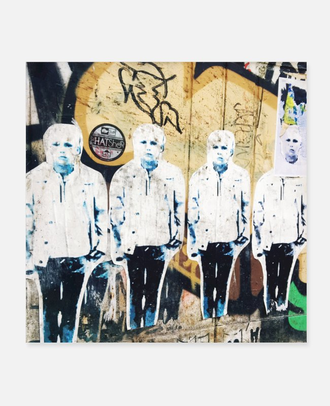 Urban Art Posters - angry boy London - Posters white