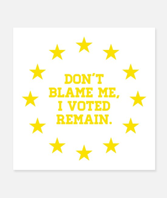 EU Posters - Peoples Vote Remain in EU - Posters white