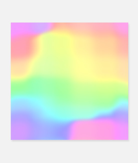 Gay Pride Posters - Magical Ombre Rainbow! - Posters white