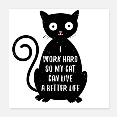 Black Cat Funny Black Cat Motivational Design for Cat Person - Poster