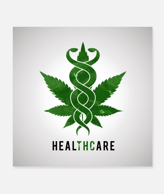 Hemp Posters - Cannabis leaf - Posters white